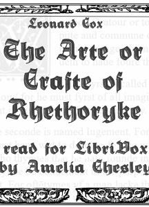 Arte or Crafte of Rhethoryke